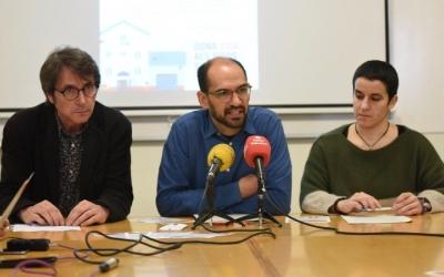 Jordi Nuñez, gerent de Vimusa, l'alcalde de Sabadell, Maties Serracant, i la regidora d'Habitatge, Glòria Rubio. Foto: Roger Benet