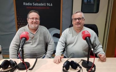 Francisco García, president de l'associació de veïns dels Merinals, i Miguel García, directiu del club Amics del Pou Nou Escorial.