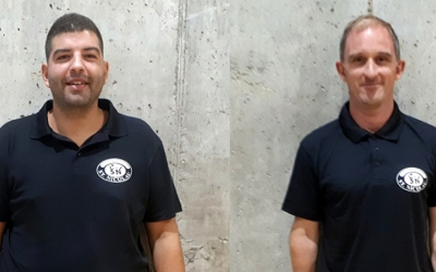 Diego Martínez (esquerra) i Edu Arizmendi (dret) agafen les regnes del Sant Nicolau