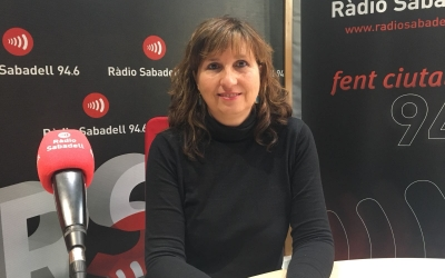 Anna Catón a l'estudi de Ràdio Sabadell | Mireia Sans
