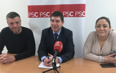 Els regidors del PSC a l'Ajuntament.