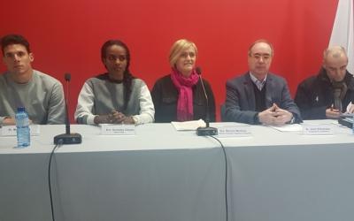 Roda de premsa de la presentació del Míting Internacional