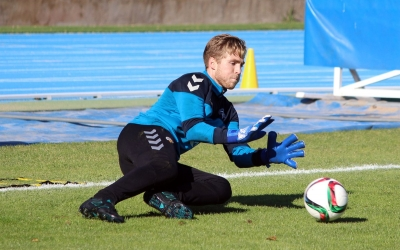 Romans Carrillo en un entrenament | CE Sabadell