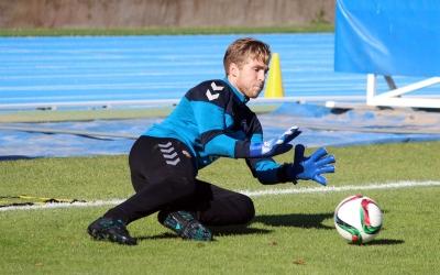 Romans Carrillo en un entrenament | CE Sabadell