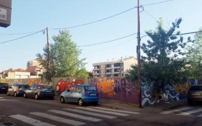 Exterior del solar de l'antic Vapor Cusidó/ Arxiu Ràdio Sabadell