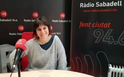 Marta Juez a l'estudi 1 de Ràdio Sabadell   Raquel García