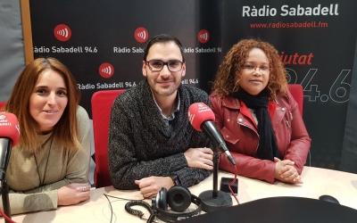 Els responsables del nou programa, a Ràdio Sabadell/ Raquel Garcia