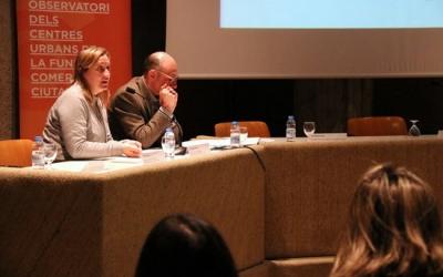 Pla general d'Àngel Cebollada i Anna Vera, responsables tècnics de l'Observatori i mepartament de Geografia de la UAB | ACN
