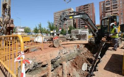 Evolució de les obres de l'estació de Sabadell centre de la Renfe. Foto: Roger Benet