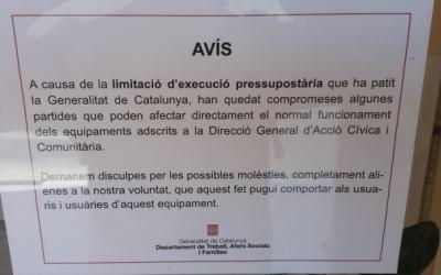 Els casals de gent gran que depenen de la Generalitat han rebut aquest avís/ Pau Duran