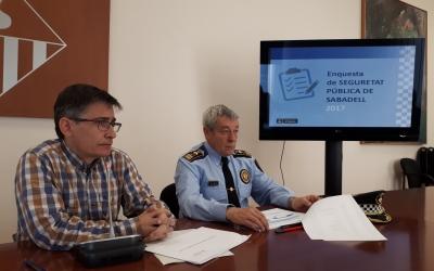 Perarnau i Quesada han presentat les dades de l'Enquesta de Seguretat Pública/ Karen Madrid