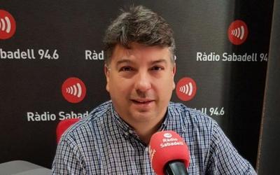 Xavier Martínez, gerent de CIPO, als estudis de Ràdio Sabadell | Foto: Raquel García