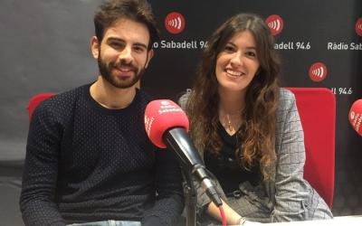 Daniel Bueno i Ariadna Cotano, estudiants d'Empresa i Tecnologia al campus de Sabadell, han presentat una aplicació al MWC.