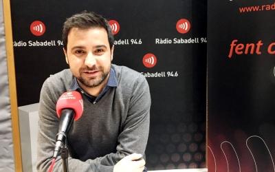 Pol Gibert aquest matí als estudis de Ràdio Sabadell