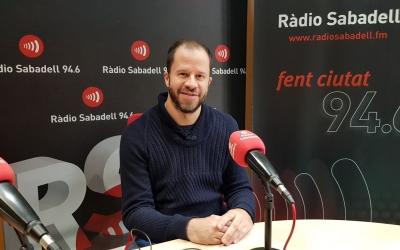 Dani Vilaró als estudis de Ràdio Sabadell | Foto: Raquel García