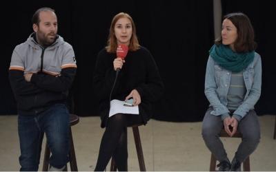 Albert Gonzàlez, Alba Collado, programadors i la cantautora Marina Ràfols | Roger Benet
