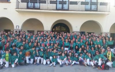 La colla dels Castellers de Sabadell a Barberà del Vallès | Saballuts