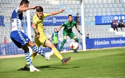 Arturo ha estat el jugador més insistent de l'atac arlequinat i ha obtingut recompensa en forma de gol | Críspulo Díaz