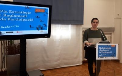 La regidora Glòria Rubio ha presentat avui els terminis d'elaboració del nou pla/ Karen Madrid