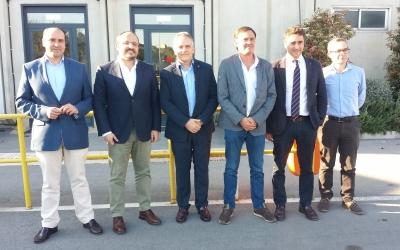 Alejandro Fernández, Esteban Gesa i altre dirigents del PP i de SMATSA | Pau Duran