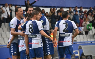Alegria arlequinada amb el gol de Felipe Sanchón | Críspulo Díaz