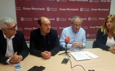 Toni Font, Josep Beltran, Carles Rossinyol i Sílvia Renom, regidors de CiU
