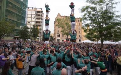 Actuació dels Castellers de Sabadell al Racó del Campanar | Roger Benet