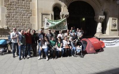 Concentració de la PAHC aquest matí al carrer de Gràcia | Roger Benet