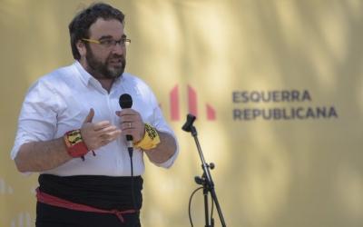 Juli fernàndez durant l'entrega del XIV Premi Valors Republicans | Roger Benet