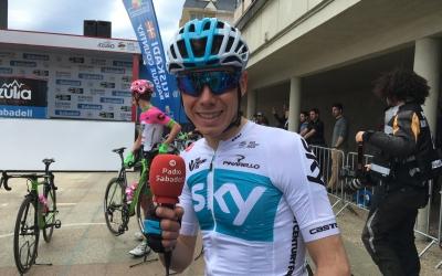 David de la Cruz, a la sortida de la primera etapa de la Itzulia, a Zarautz | Marc Pijuan