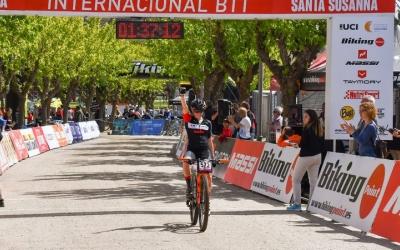 Sandra Santanyes entrant guanyadora a Santa Susanna