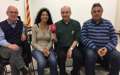 Àngel Colomer, Ivone Puig, Manel Aljama i Carles Rodrigo a la seu d'Òmnium Sabadell | Ràdio Sabadell