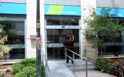 Imatge de l'accés a l'Oficina del Servei d'Ocupació al carrer de la República | Arxiu
