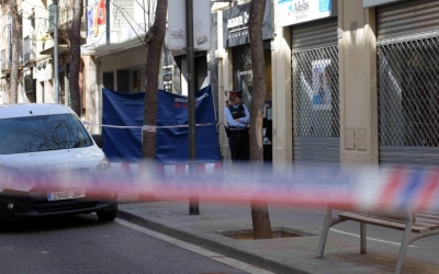 Imatge de l'escenari del crim al carrer Gràcia | Roger Benet