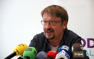 Xavier Domènech durant la roda de premsa | ACN
