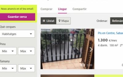 Cerca de pisos de lloguer a Sabadell   Captura