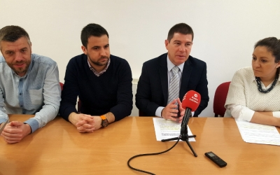 D'esquerra a dreta: Cristian Sánchez, Pol Gibert, Josep Ayuso i Anna Carrasco
