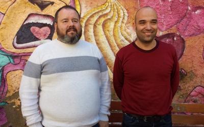 El diputat Joan Mena i el tinent d'alcalde Joan Berlanga | Pau Duran