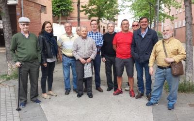 Esteban Gesa amb els veïns dels Merinals | Pau Duran