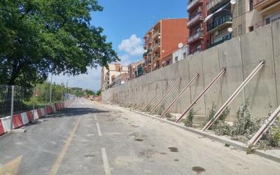 Perspectiva del mur des del carrer de l'Onyar | Pere Gallifa