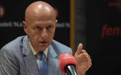Esteve Calzada avui als estudis de Ràdio Sabadell | Roger Benet