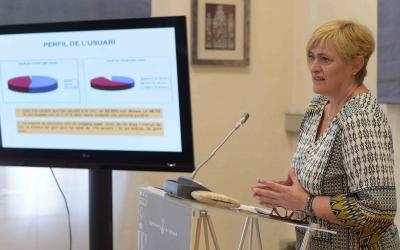 Marisol Martínez ha donat a conèixer les dades de l'OMIC avui/ Roger Benet