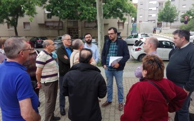 Sanz i el grup municipal amb el veïnat dels Merinals | Ciutadans