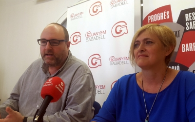 Miquel Soler i Marisol Martínez en la roda de premsa d'aquest matí