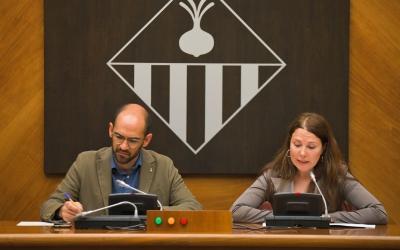 Serracant i Abellán a la sala de plens del consistori | Ajuntament de Sabadell