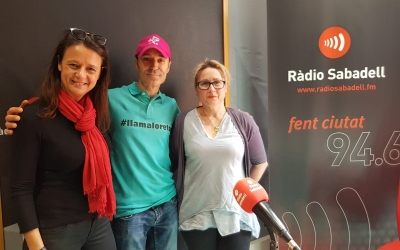 Els impulsors del repte solidari a Ràdio Sabadell   Raquel García