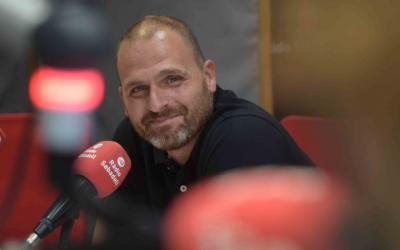 Jonathan Ramírez als estudis de Ràdio Sabadell