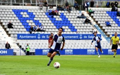 Josu Ozkoidi en una acció del partit contra el Mallorca | Crispulo D.