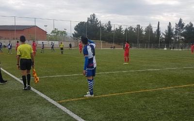 Sergi Estrada, autor del gol arlequinat, no va poder evitar la derrota del seu equip | Joan Blanch