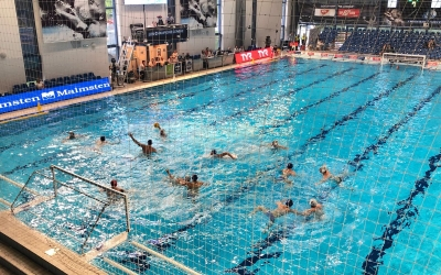 Imatge del partit entre el Szolonki i l'Astralpool | @CN_Sabadell
